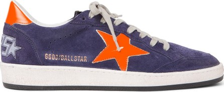 Golden Goose Deluxe Brand Ball Star Distressed Suede and Leather Sneakers