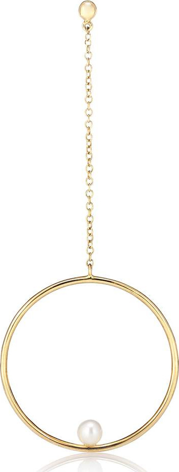 Anissa Kermiche Rondeur Perlée Chain 14kt gold and pearl single earring