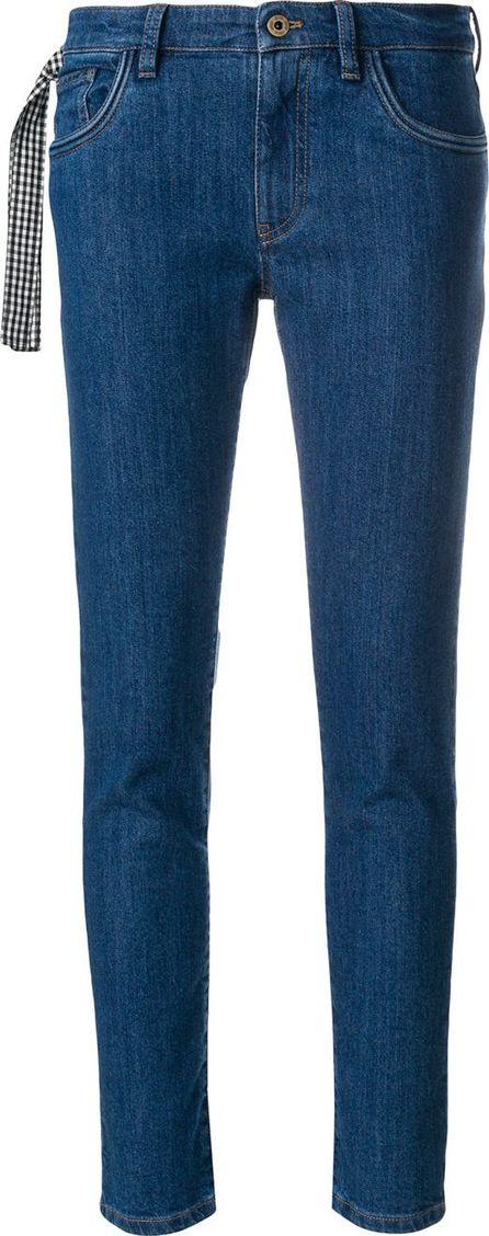 Miu Miu Gingham tie jeans