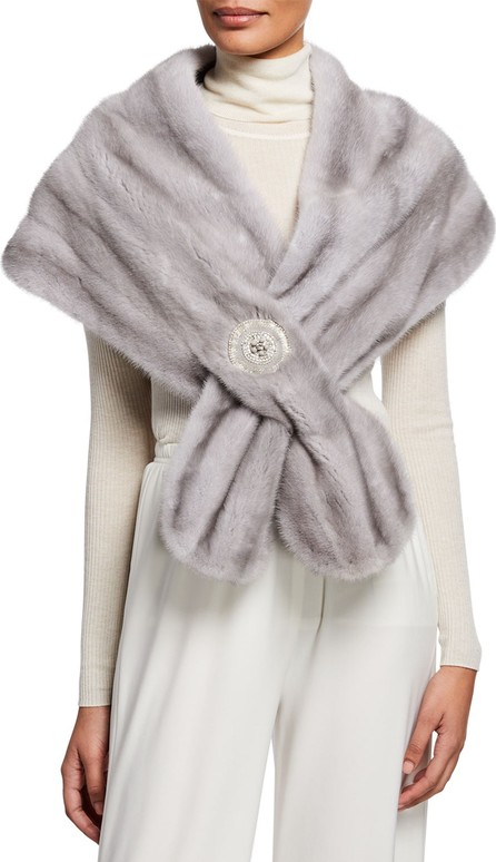 Carolyn Rowan Mink Fur Stole With Frayed Chain