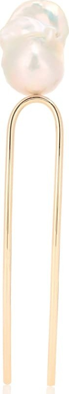 Sophie Bille Brahe Grace Blanc 10kt gold hairpin with pearl
