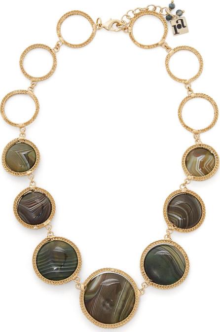 Rosantica Scarabeo agate-drop necklace