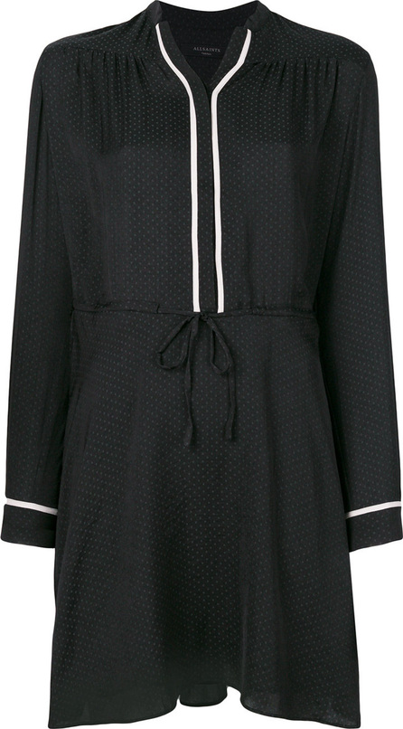 All Saints Polka dot print tie waist dress