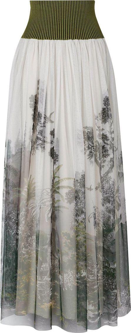Alberta Ferretti Floral print pleated skirt