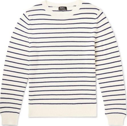 A.P.C. Slim-Fit Striped Wool Sweater