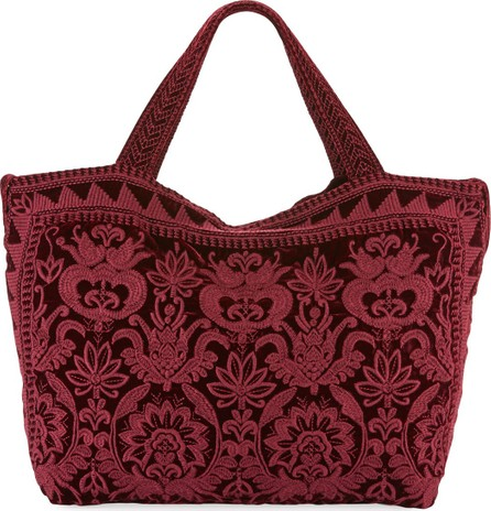Johnny Was Hirsch Embroidered Velvet Tote Bag