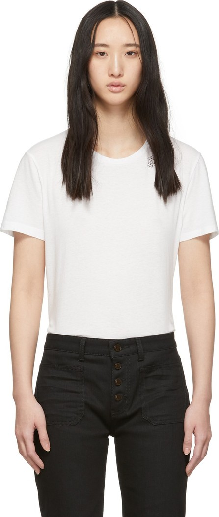 Saint Laurent White Robot T-Shirt