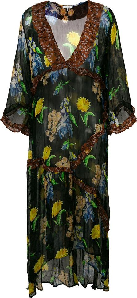 Ganni floral v-neck dress