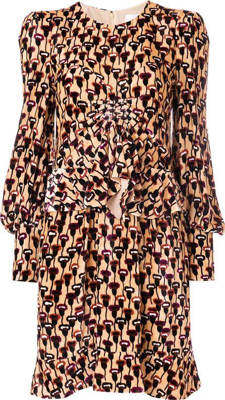 Chloe velvet poppy print dress