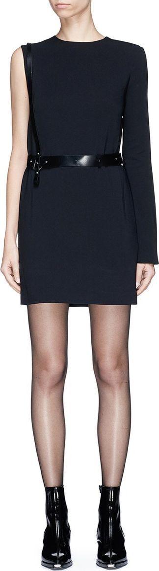 Helmut Lang Single sleeve harness mini suiting dress