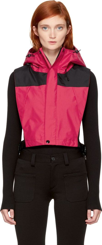 FACETASM Red Windbreaker Bib Vest