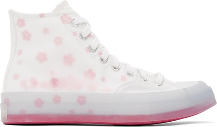 Converse White Flower Storm Chuck 70 High Sneakers