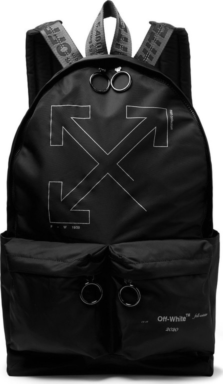 Off White Unfinished Logo-Print Shell Backpack