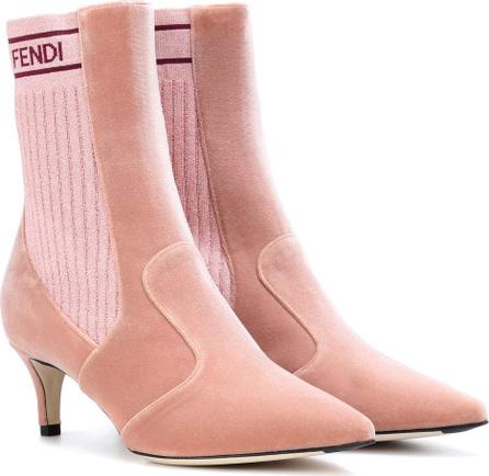 Fendi Velvet ankle boots