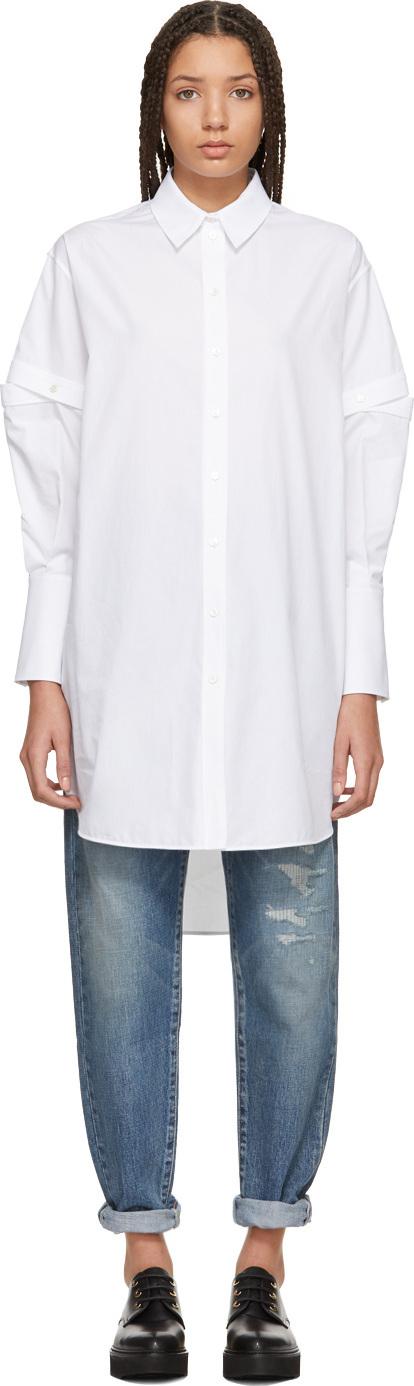 Alexander McQueen White Slashed Sleeve Shirt
