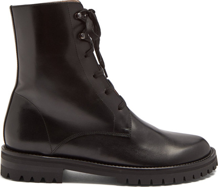 Ann Demeulemeester Round-toe leather ankle boots