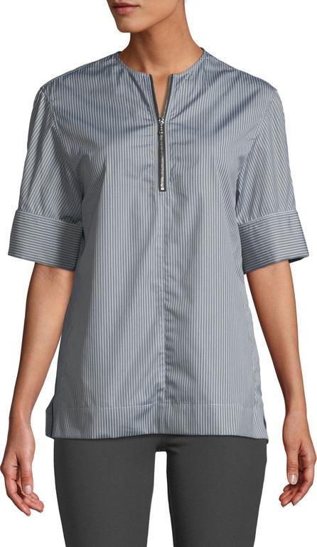 Joseph Brair Pinstripe Quarter-Zip Poplin Shirt