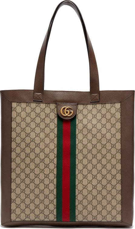 Gucci GG Supreme leather and canvas tote