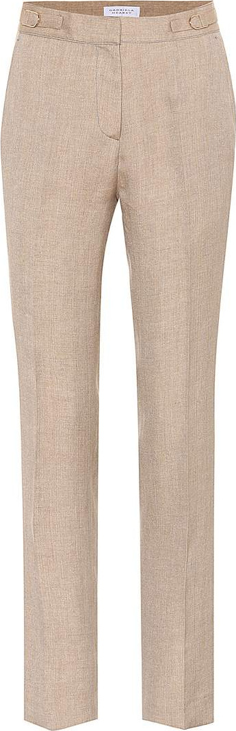 Gabriela Hearst Delon linen and silk trousers