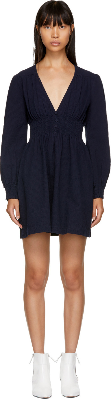 Alexachung Navy V-Neck Dress