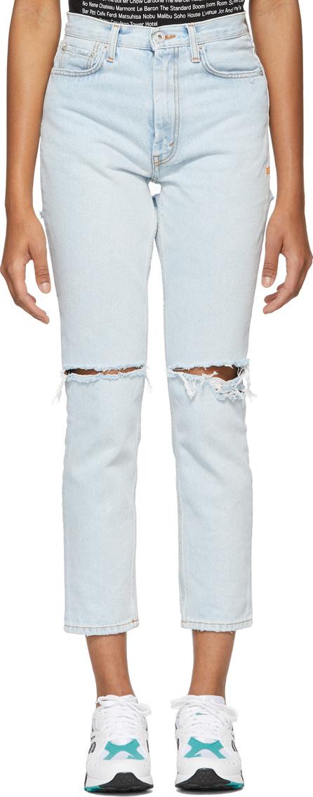 Heron Preston Blue Bleach Jeans