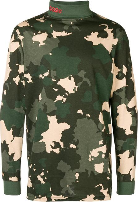 032c Camouflage print turtleneck sweater