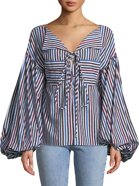 Caroline Constas Olympia Pocket Top
