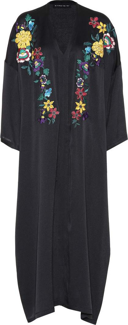 Etro Stretch silk embroidered dress