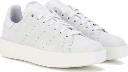 Adidas Originals Stan Smith Bold suede sneakers