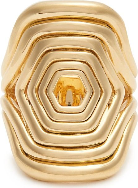 Fernando Jorge Yellow-gold Cushioned Lines ring