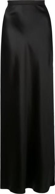 Nili Lotan Azalea High Waisted Silk Midi Skirt