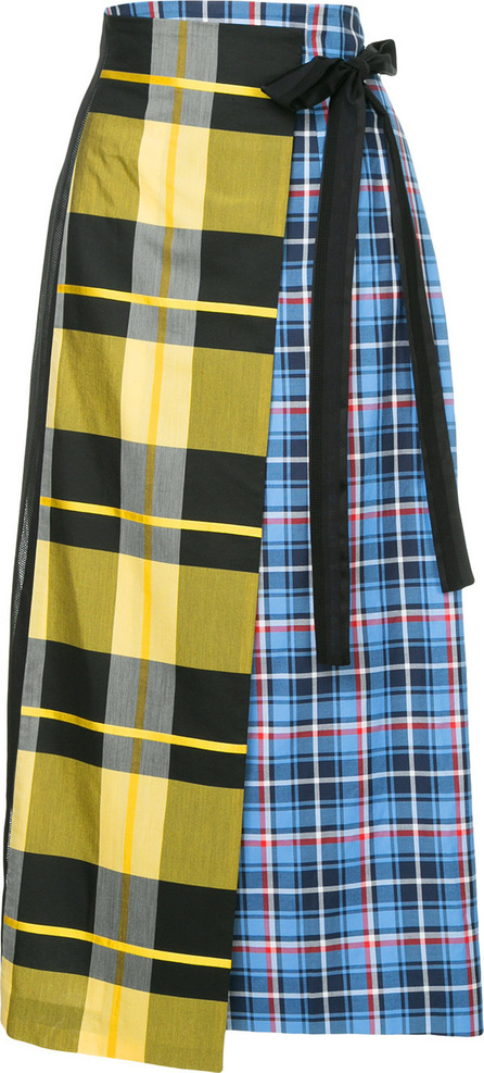 Enfold Patch-work flared skirt