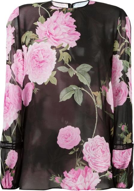 Giambattista Valli floral print sheer blouse