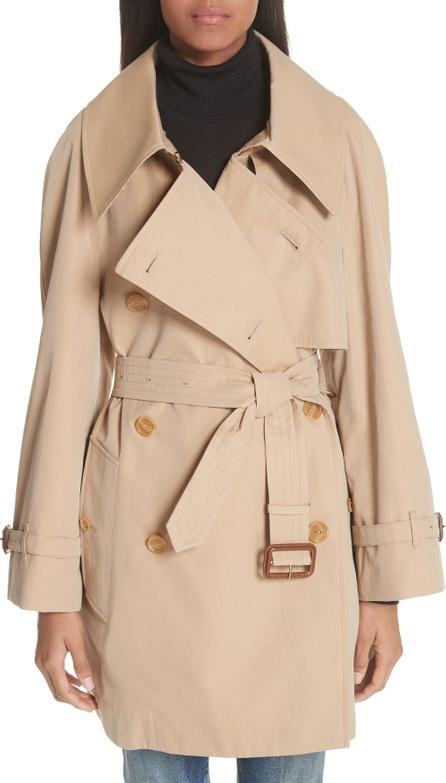 Burberry London England Fortingall Cotton Gabardine Trench Coat