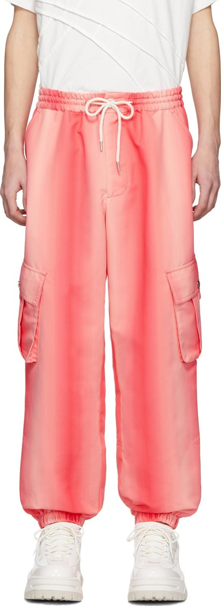 Feng Chen Wang Pink Gradient Cargo Trousers