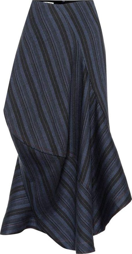 Acne Studios - Suse striped wool-blend skirt