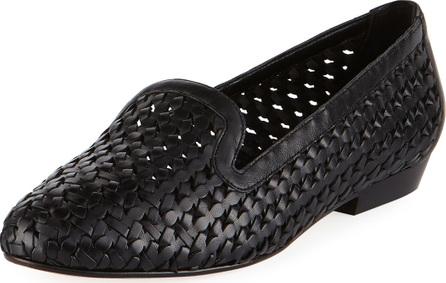 Sesto Meucci Neya Woven Leather Loafer, Black