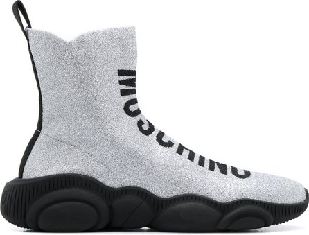 Moschino Glitter Teddy high-top sneakers