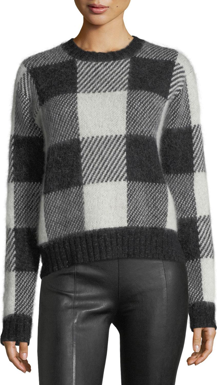 Helmut Lang - Check-Block Jacquard Oversized Wool-Blend Sweater