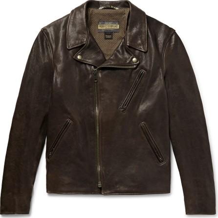 Schott NYC Raven Perfecto Slim-Fit Leather Biker Jacket