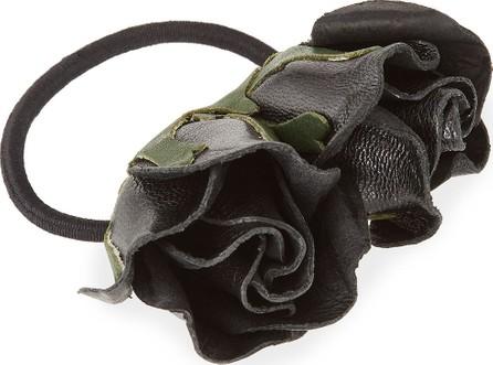 Epona Valley Isa Mini Leather Rose Ponytail Holder