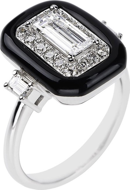 Nikos Koulis 18k White Gold Oui Mixed-Cut Diamond Ring, Size 6.75