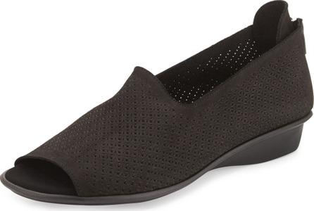 Sesto Meucci Eadan Open-Toe Demi-Wedge Sandals, Black