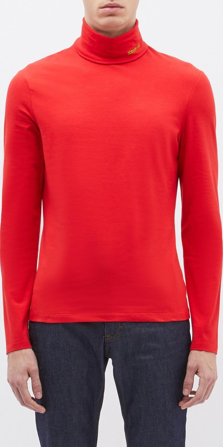 Calvin Klein 205W39NYC Logo embroidered turtleneck long sleeve T-shirt