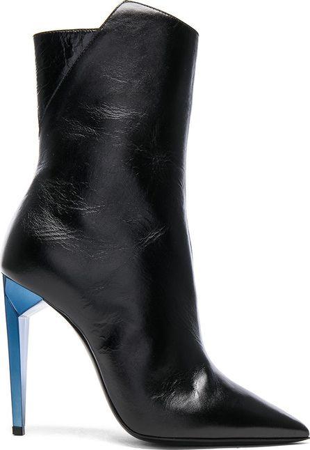Saint Laurent Leather Freja Zip Booties