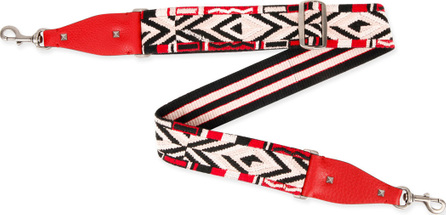 Valentino Rockstud Native Couture Guitar Strap for Handbag, Red/Multi
