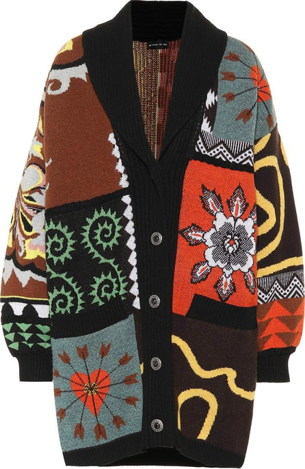 Etro Oversized patchwork wool cardigan