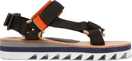 Hender Scheme Leather-Trimmed Webbing Sandals