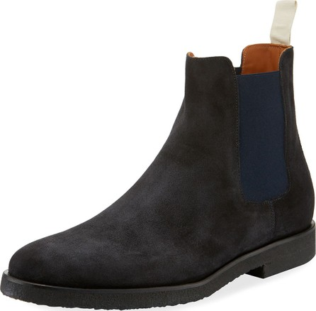 Common Projects Men's Calf Suede Chelsea Boots, Navy