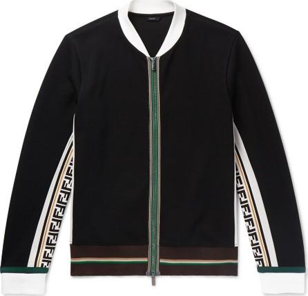 Fendi Logo-Trimmed Cotton-Blend Bomber Jacket